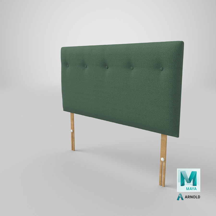 Headboard 08 Mint royalty-free 3d model - Preview no. 27