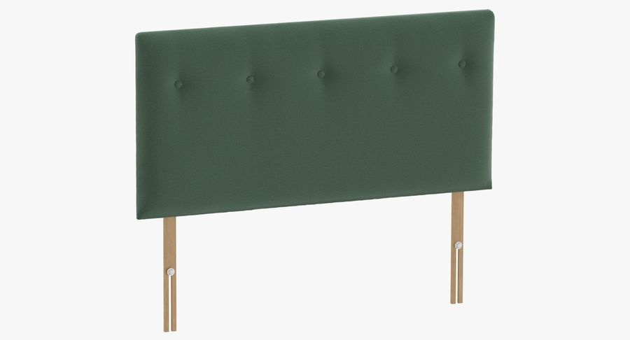 Headboard 08 Mint royalty-free 3d model - Preview no. 2