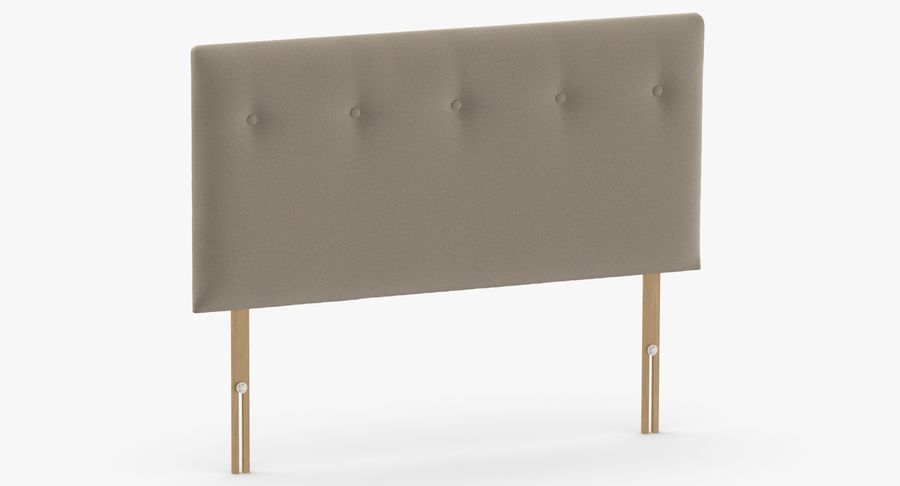 Headboard 08 Oatmeal royalty-free 3d model - Preview no. 3