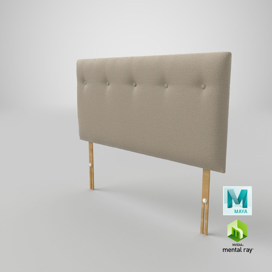 Headboard 08 Oatmeal royalty-free 3d model - Preview no. 28