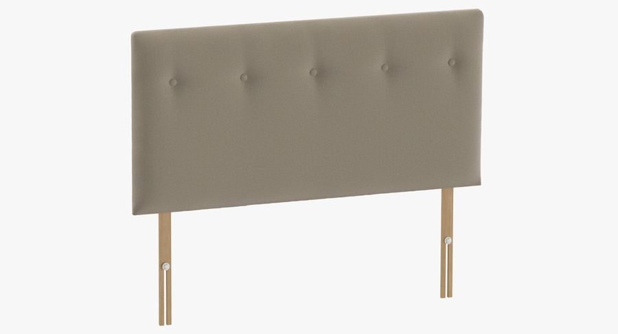 Headboard 08 Oatmeal royalty-free 3d model - Preview no. 2