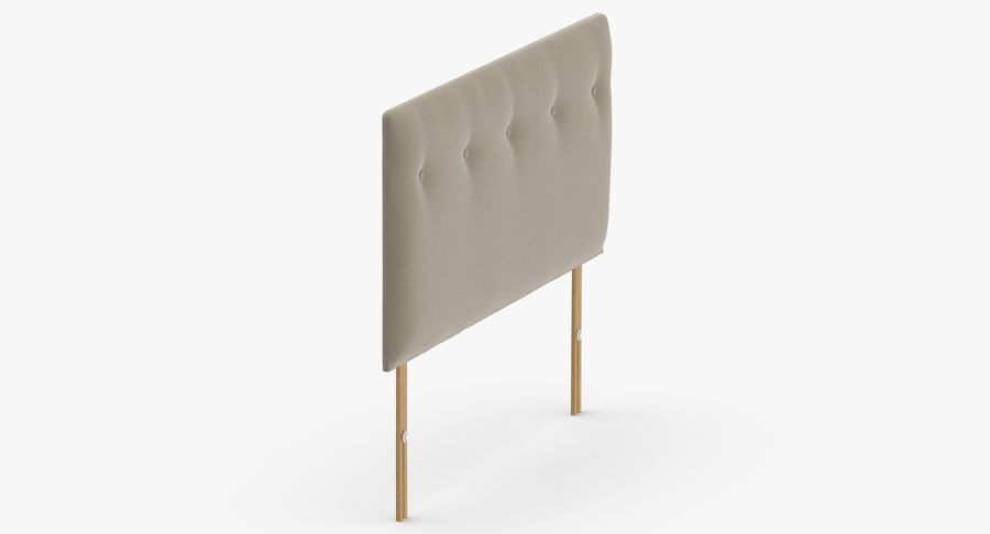 Headboard 08 Oatmeal royalty-free 3d model - Preview no. 4