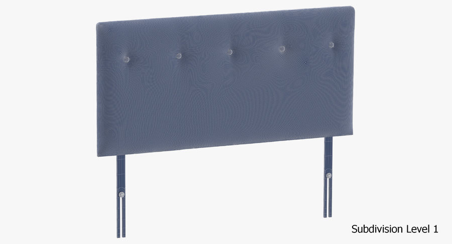Headboard 08 Oatmeal royalty-free 3d model - Preview no. 19