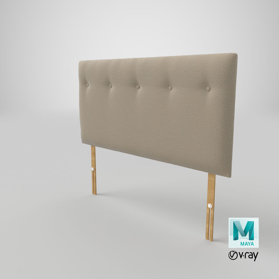 Headboard 08 Oatmeal royalty-free 3d model - Preview no. 29