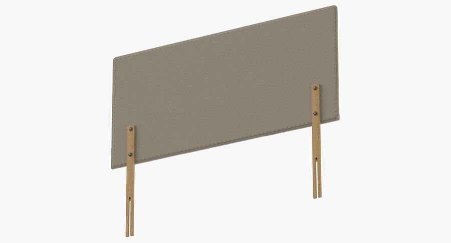 Headboard 08 Oatmeal royalty-free 3d model - Preview no. 8