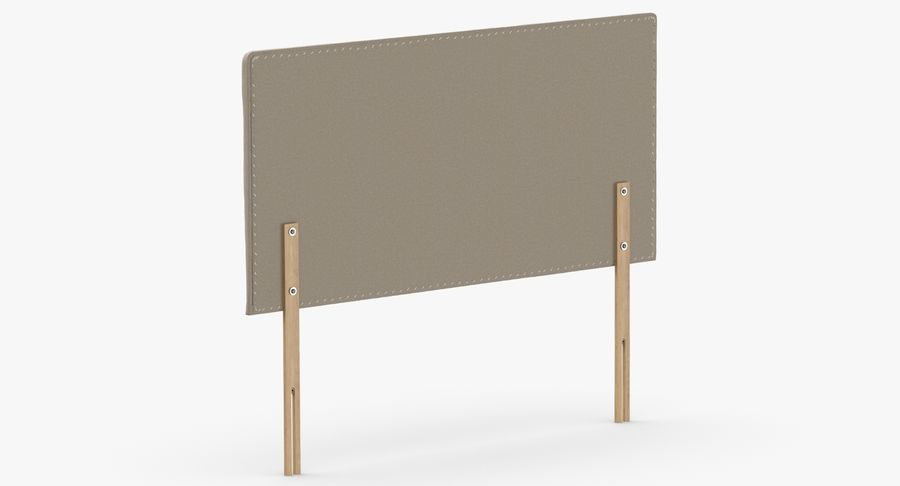 Headboard 08 Oatmeal royalty-free 3d model - Preview no. 6
