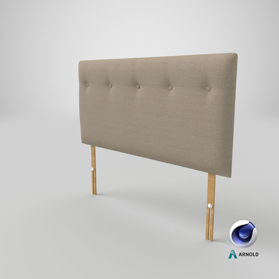 Headboard 08 Oatmeal royalty-free 3d model - Preview no. 23