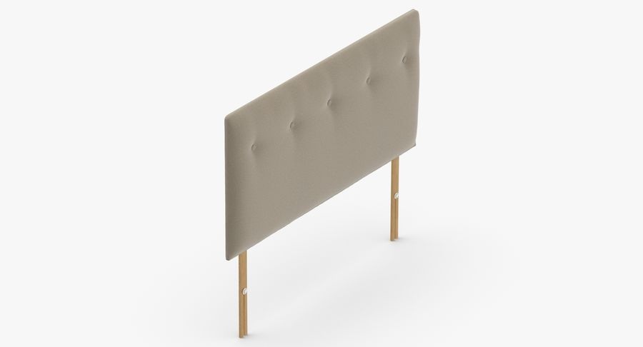 Headboard 08 Oatmeal royalty-free 3d model - Preview no. 7