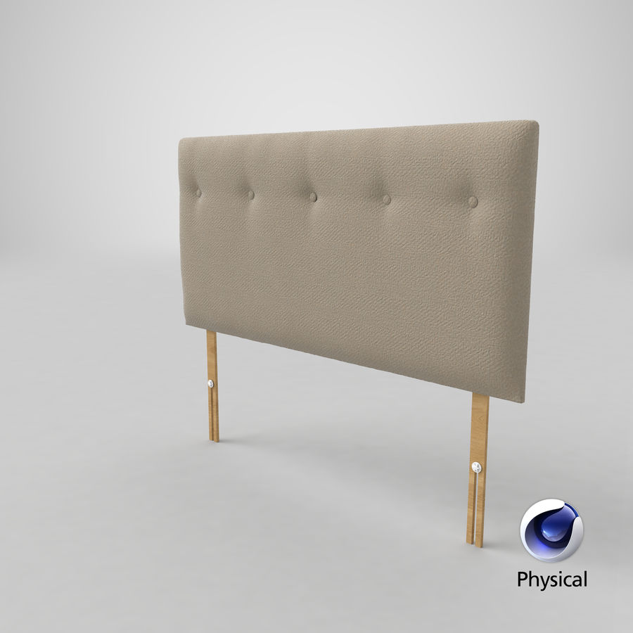 Headboard 08 Oatmeal royalty-free 3d model - Preview no. 22