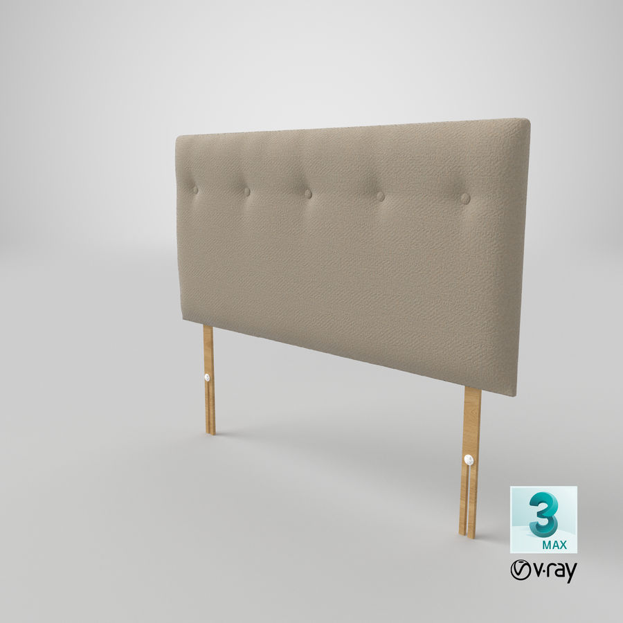 Headboard 08 Oatmeal royalty-free 3d model - Preview no. 26