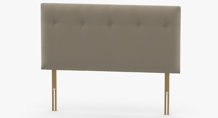 Headboard 08 Oatmeal royalty-free 3d model - Preview no. 5