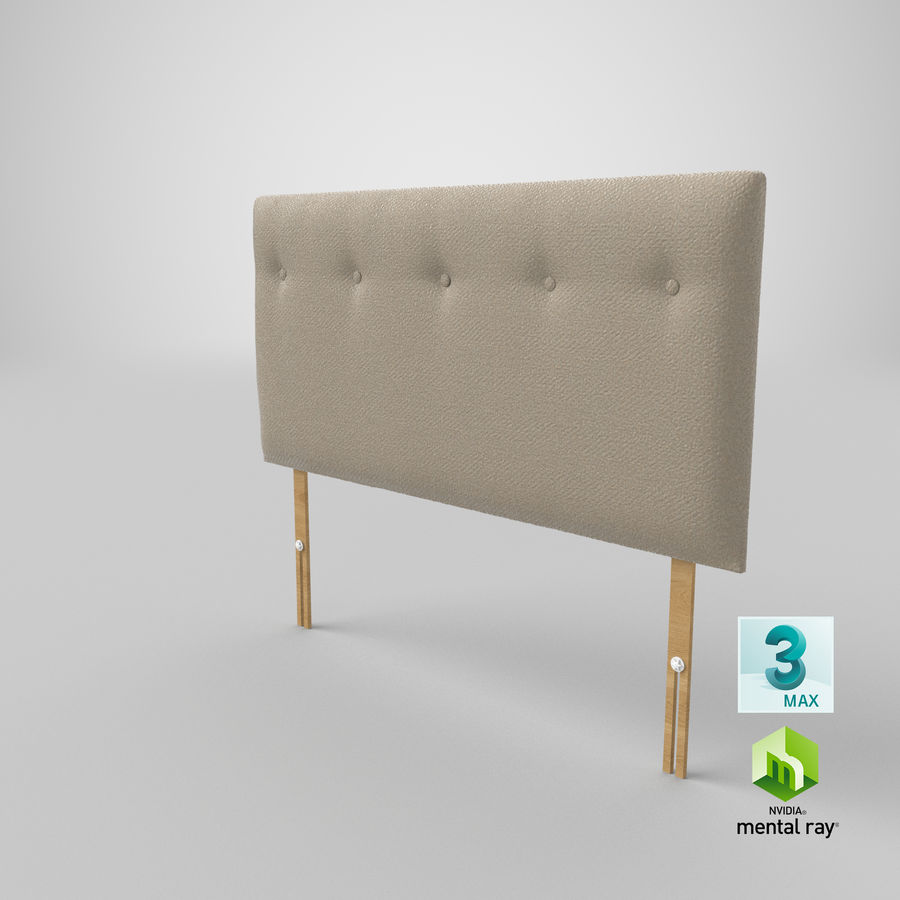 Headboard 08 Oatmeal royalty-free 3d model - Preview no. 25