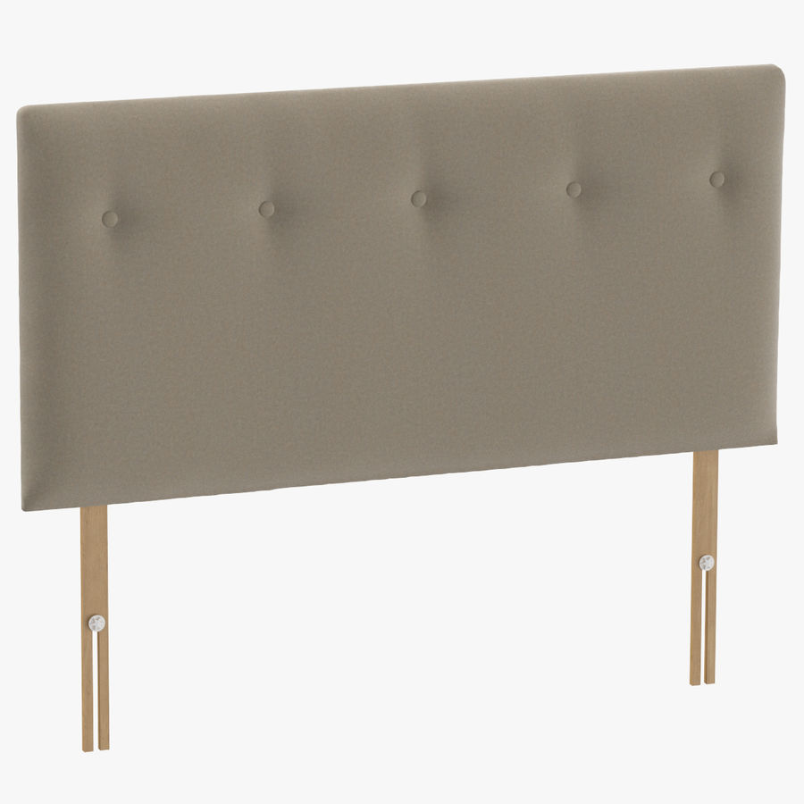 Headboard 08 Oatmeal royalty-free 3d model - Preview no. 1