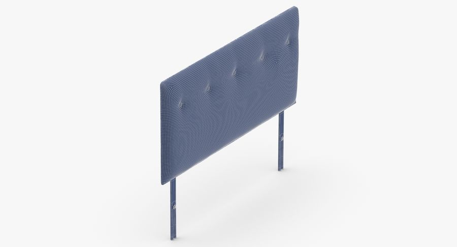 Headboard 08 Oatmeal royalty-free 3d model - Preview no. 15