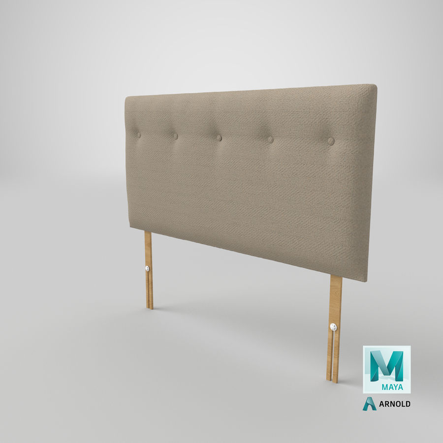 Headboard 08 Oatmeal royalty-free 3d model - Preview no. 27