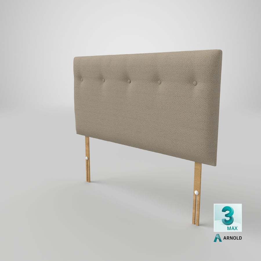 Headboard 08 Oatmeal royalty-free 3d model - Preview no. 24