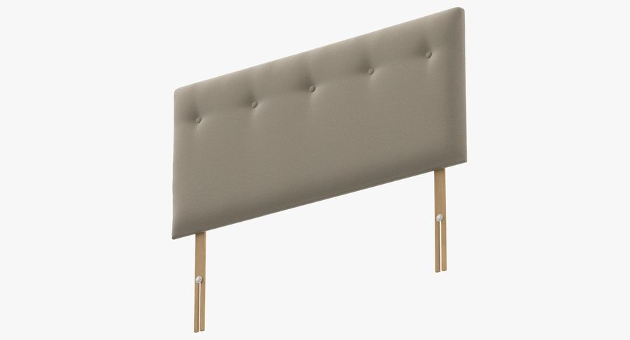 Headboard 08 Oatmeal royalty-free 3d model - Preview no. 9