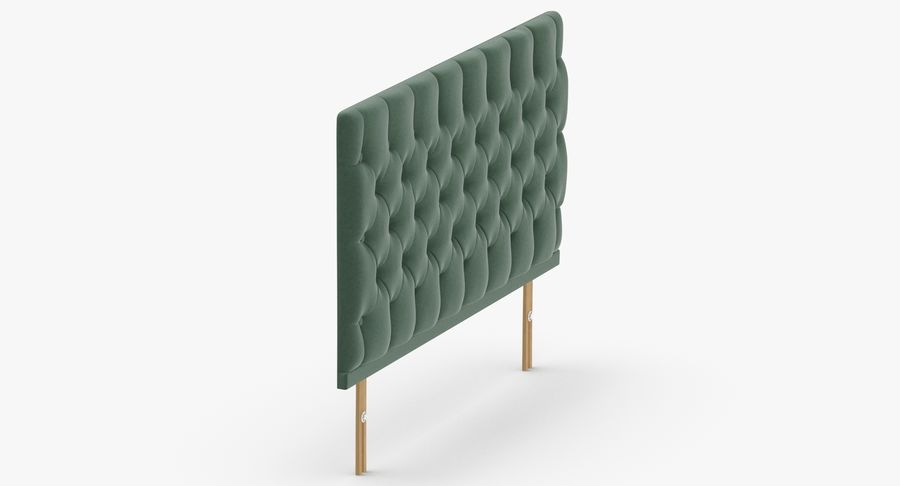 Headboard 12 Mint royalty-free 3d model - Preview no. 4