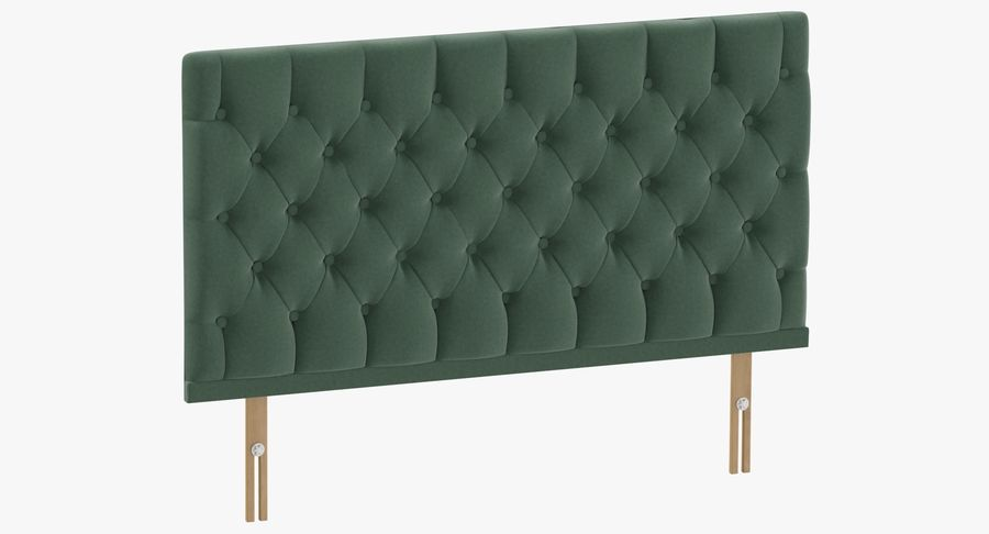 Headboard 12 Mint royalty-free 3d model - Preview no. 2