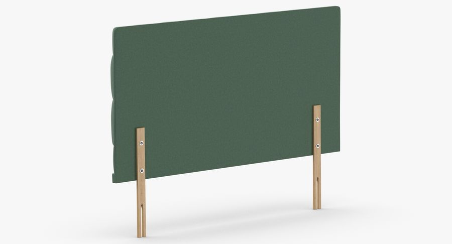 Headboard 12 Mint royalty-free 3d model - Preview no. 6