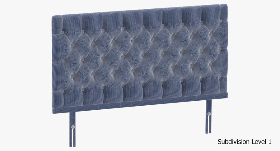 Headboard 12 Mint royalty-free 3d model - Preview no. 19
