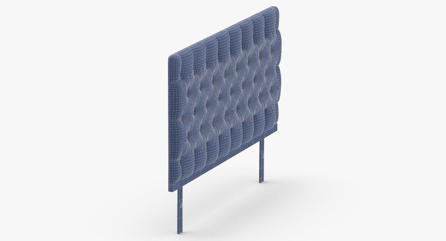 Headboard 12 Mint royalty-free 3d model - Preview no. 12