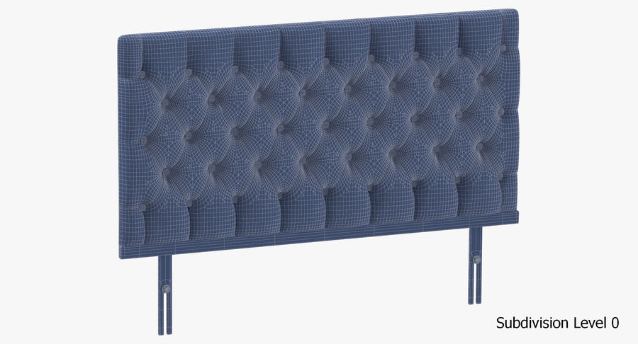 Headboard 12 Mint royalty-free 3d model - Preview no. 18