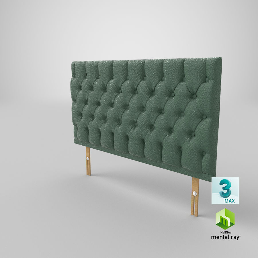 Headboard 12 Mint royalty-free 3d model - Preview no. 25