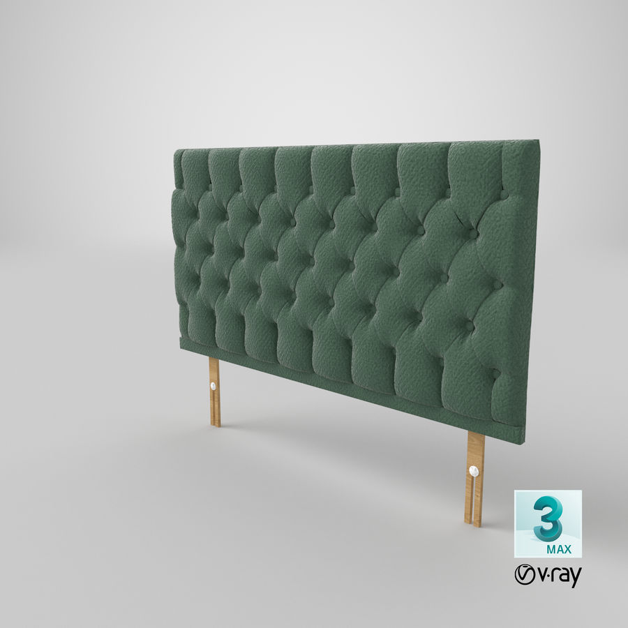 Headboard 12 Mint royalty-free 3d model - Preview no. 26