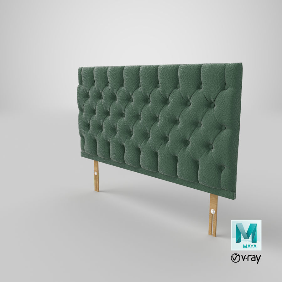 Headboard 12 Mint royalty-free 3d model - Preview no. 29