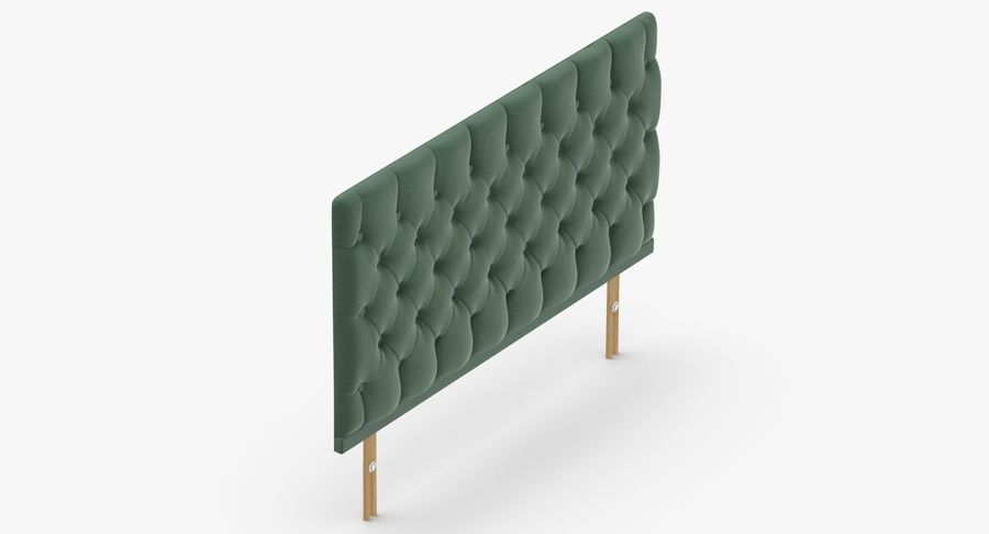 Headboard 12 Mint royalty-free 3d model - Preview no. 7