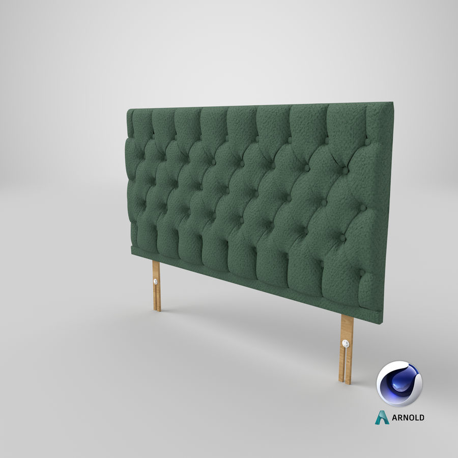 Headboard 12 Mint royalty-free 3d model - Preview no. 23