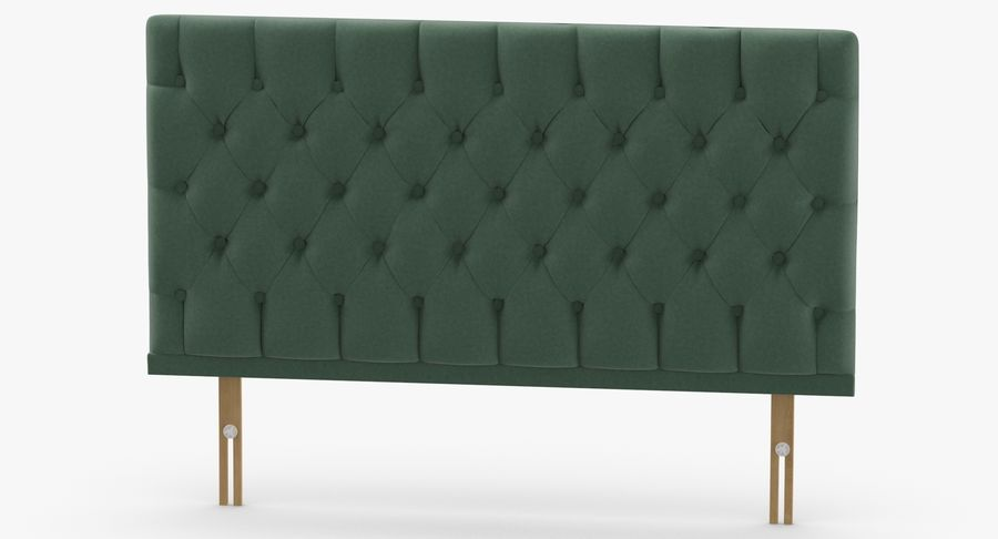 Headboard 12 Mint royalty-free 3d model - Preview no. 5