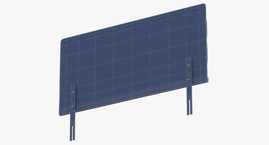 Headboard 12 Mint royalty-free 3d model - Preview no. 16