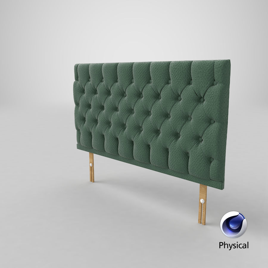 Headboard 12 Mint royalty-free 3d model - Preview no. 22