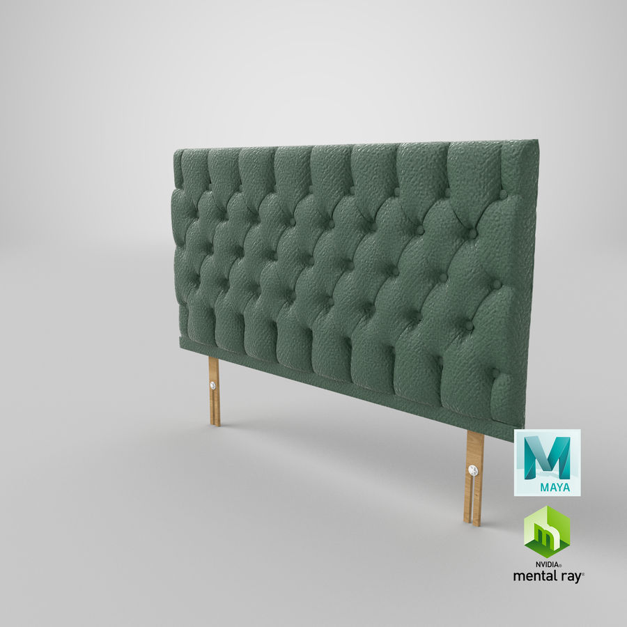 Headboard 12 Mint royalty-free 3d model - Preview no. 28