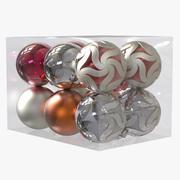 Christmas Balls Pack 3d model