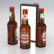 Garrafa de Cerveja Mahou 330ml 2019 3d model