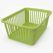 Panier pratique en plastique vert 3d model
