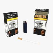 一包香烟 3d model