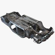 Carro destruído 3 3d model