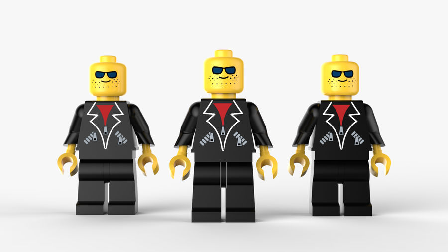 Lego Mafya Kavramı royalty-free 3d model - Preview no. 3