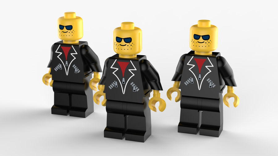 Lego Mafya Kavramı royalty-free 3d model - Preview no. 5