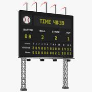 Tableau de bord de baseball 3d model