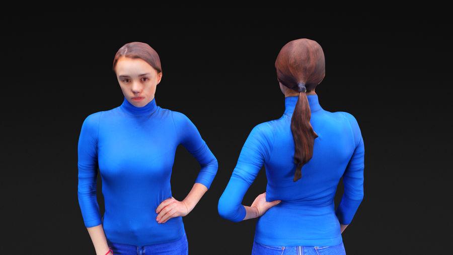 청바지에 여자 royalty-free 3d model - Preview no. 14