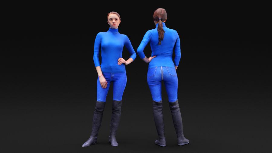 청바지에 여자 royalty-free 3d model - Preview no. 13