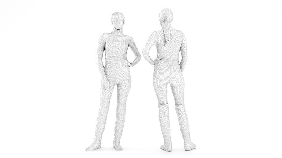 청바지에 여자 royalty-free 3d model - Preview no. 6