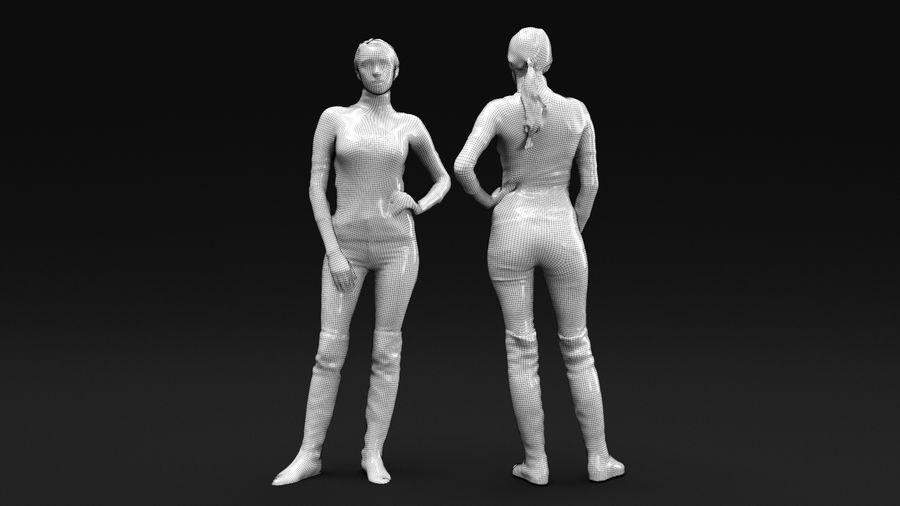 청바지에 여자 royalty-free 3d model - Preview no. 8