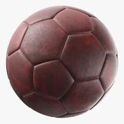 Pallone da calcio in pelle generico 3d model