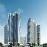 Residential House Building 3d model